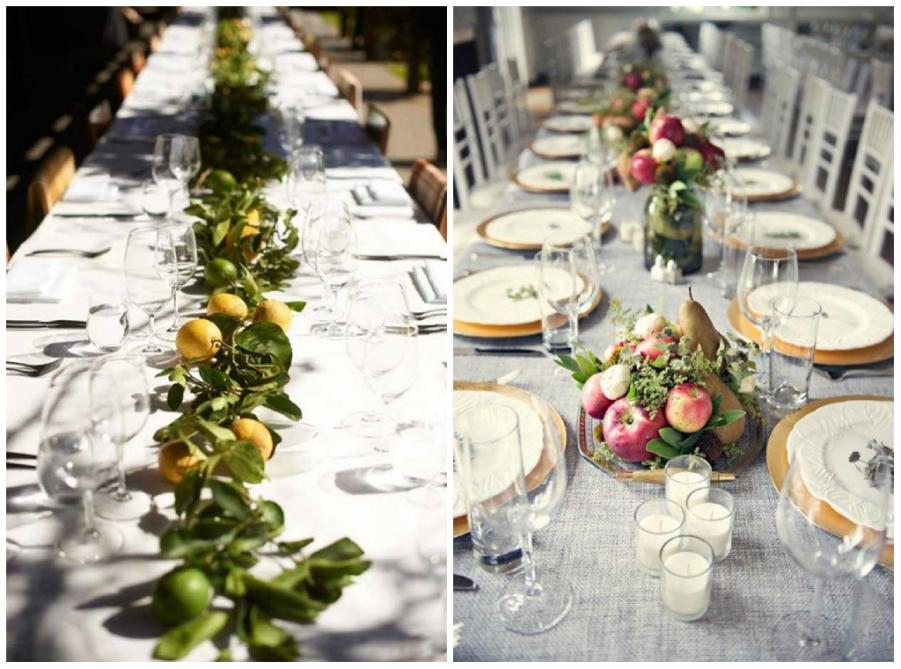 20 idee per decorare il tuo matrimonio con la frutta - Centro tavola con frutta ...