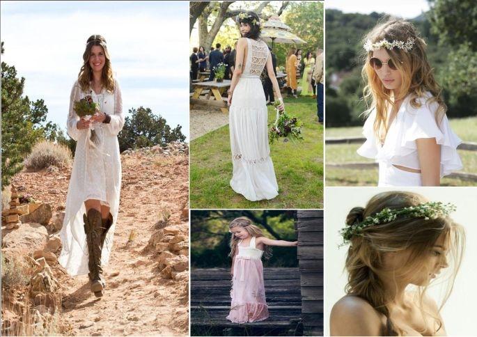 Matrimonio Hippie Uomo : Abiti da sposa stile figlia dei fiori ee regardsdefemmes