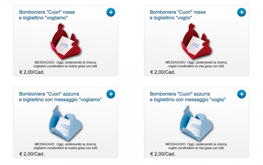 Bomboniere Matrimonio Airc.Bomboniere Solidali Di Airc
