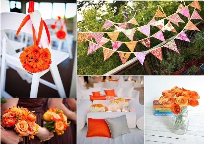 Decorazioni Matrimonio Arancione : Matrimonio arancione
