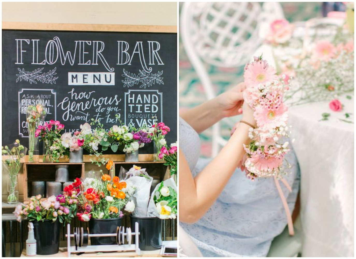 flower power - intrattenere ospiti con il flower bar