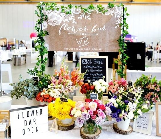 trend 2019 matrimonio - flower bar
