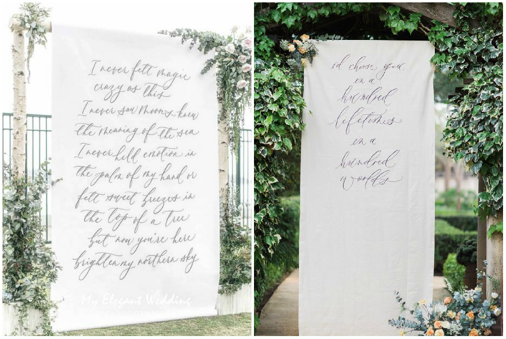 backdrop calligrafico matrimonio