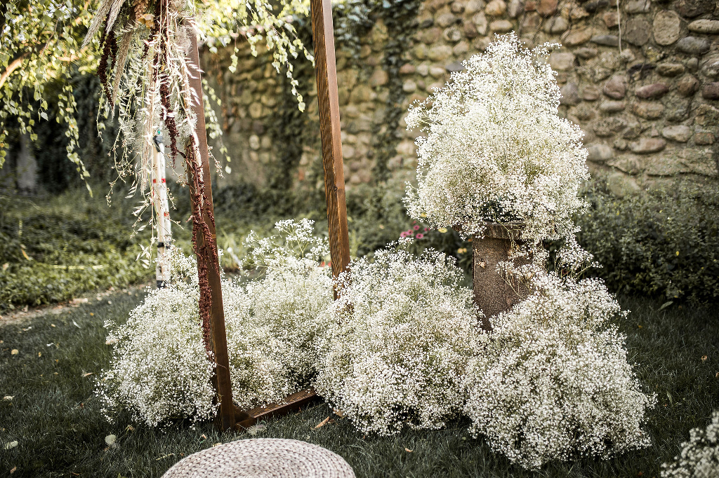 outdoor ceremony wabi sabi wedding