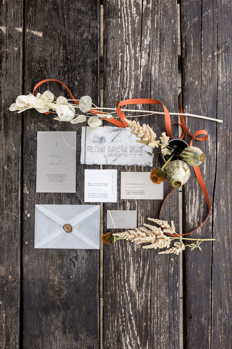 stationery wabi sabi - grey gold