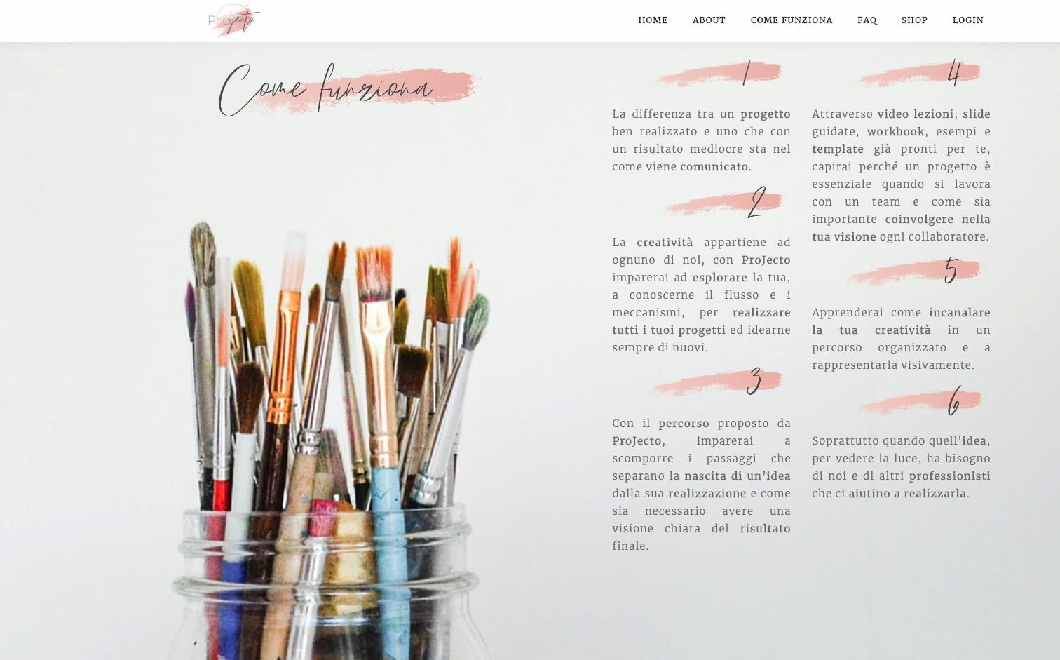 video corso creativo - projecto
